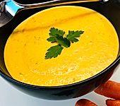 Möhren-Kokos-Suppe mit Ingwer