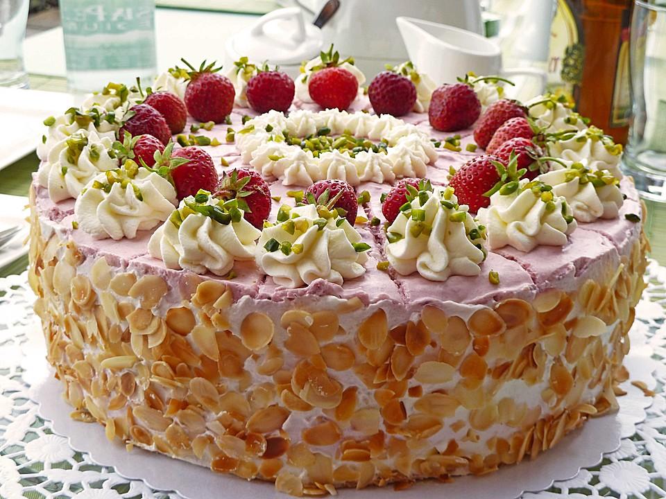 Erdbeer Sahne Torte Von Holunderbluete67 Chefkoch De