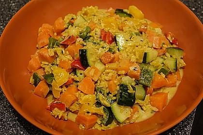 Gemüsereispfanne mit Kokosmilch 3