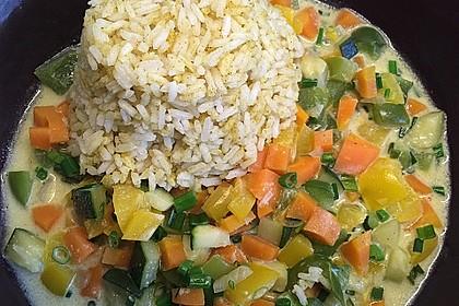 Gemüsereispfanne mit Kokosmilch 11