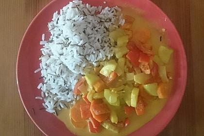 Gemüsereispfanne mit Kokosmilch 14