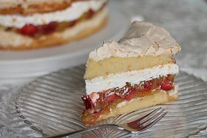 Rhabarber-Erdbeer-Torte mit Baiser 1