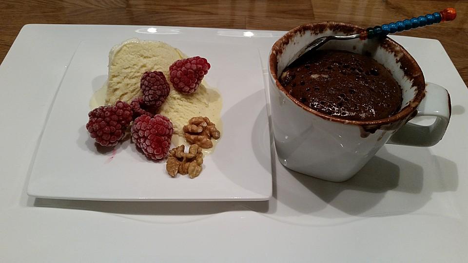 Nutella Tassenkuchen Mit Mandeln Oder Nussen Von Coole Kuchen
