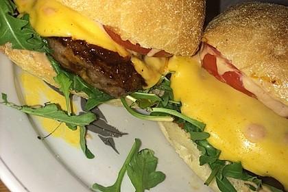 Ciabatta Cheeseburger