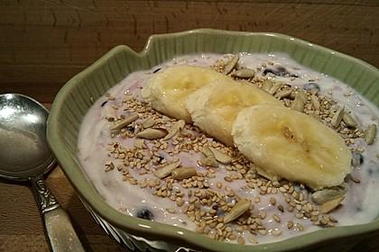 Smokeys Bananen-Blaubeer-Frühstück (Bild)