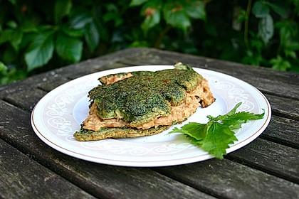 Gefülltes Nessel-Omelett 1
