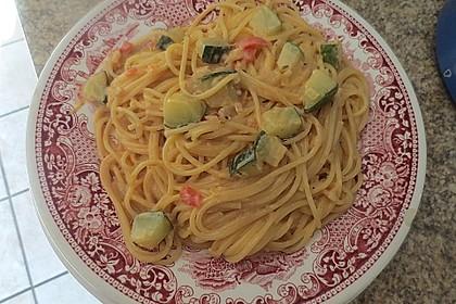 Zucchini in Sahnesauce 1