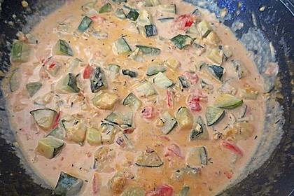 Zucchini in Sahnesauce 3