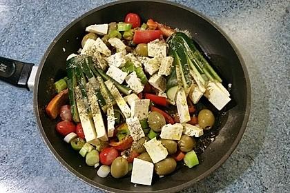 Zucchinifächer mit Feta (Bild)
