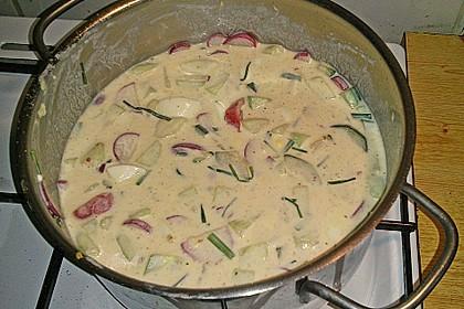 Sommersuppe mit Kefir