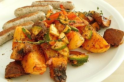 Mediterrane Kartoffel-Gemüsepfanne 11