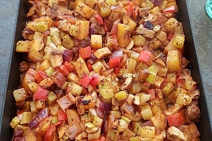 Mediterrane Kartoffel-Gemüsepfanne 22