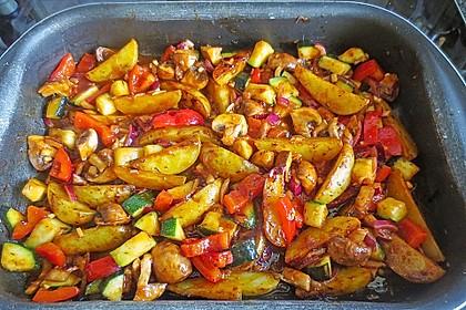 Mediterrane Kartoffel-Gemüsepfanne 1