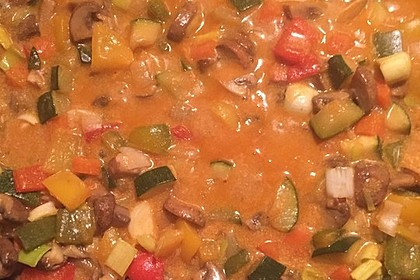 Gemüse-Pilzpfanne 1