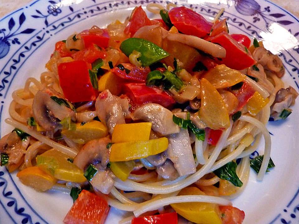 Leichte Schnelle Sommerküche : Schnelle einfache gemüsepfanne von mimamutti chefkoch