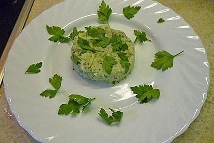 Stampfkartoffeln mit Algen und Shiitakepilzen