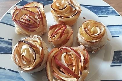 Apfel-Zimt-Rosen mit Blätterteig 19