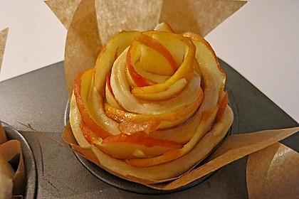 Apfel-Zimt-Rosen mit Blätterteig 9