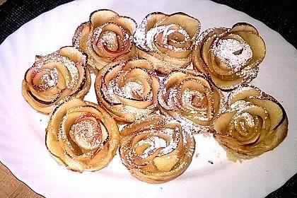 Apfel-Zimt-Rosen mit Blätterteig 38