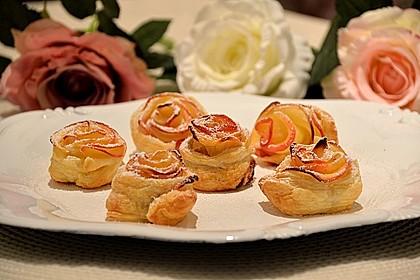 Apfel-Zimt-Rosen mit Blätterteig 20