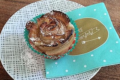 Apfel-Zimt-Rosen mit Blätterteig 13