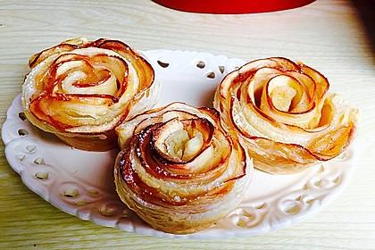 Apfel-Zimt-Rosen mit Blätterteig 2