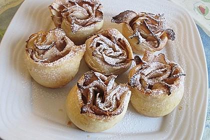 Apfel-Zimt-Rosen mit Blätterteig 46