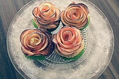 Apfel-Zimt-Rosen mit Blätterteig 4