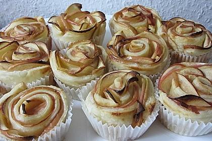 Apfel-Zimt-Rosen mit Blätterteig 29