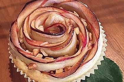 Apfel-Zimt-Rosen mit Blätterteig