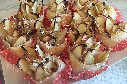 Apfel-Zimt-Rosen mit Blätterteig 61