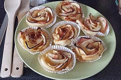 Apfel-Zimt-Rosen mit Blätterteig 41