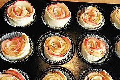 Apfel-Zimt-Rosen mit Blätterteig 5