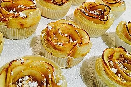 Apfel-Zimt-Rosen mit Blätterteig 14