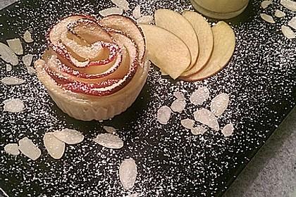 Apfel-Zimt-Rosen mit Blätterteig 23