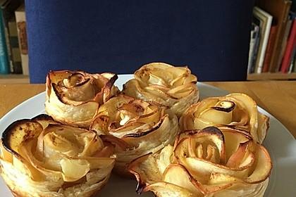 Apfel-Zimt-Rosen mit Blätterteig 54