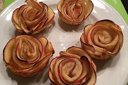Apfel-Zimt-Rosen mit Blätterteig 26