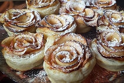 Apfel-Zimt-Rosen mit Blätterteig 31