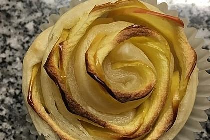 Apfel-Zimt-Rosen mit Blätterteig 48
