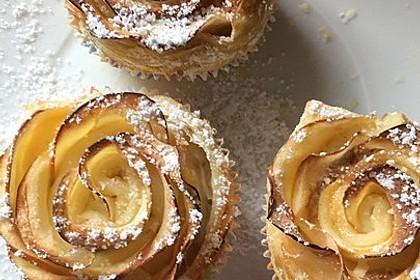 Apfel-Zimt-Rosen mit Blätterteig 28