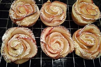 Apfel-Zimt-Rosen mit Blätterteig 27