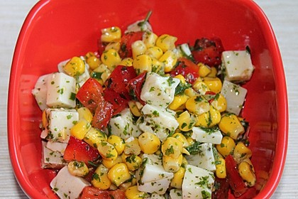 Paprika-Mais-Käse-Salat
