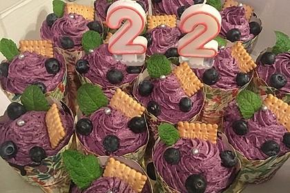 Heidelbeer-Mascarpone-Frosting für Cupcakes 11