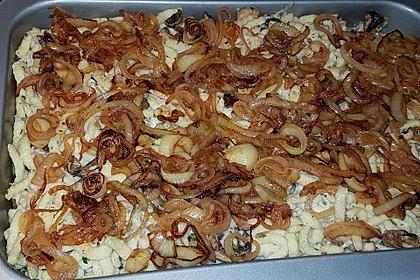 Champignon-Kräuter-Spätzle mit Honig-Röstzwiebeln 14