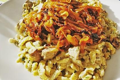 Champignon-Kräuter-Spätzle mit Honig-Röstzwiebeln 12