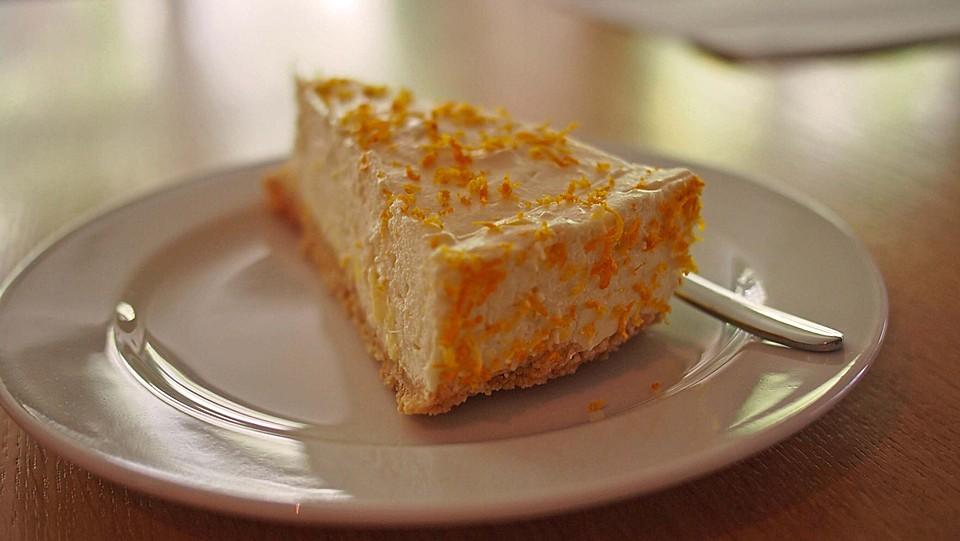 Orangen Frischkase Torte Mit Marzipan Von Cschoenbrodt Chefkoch De