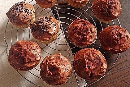 Marmorkuchen-Muffins mit Schokocream-Topping