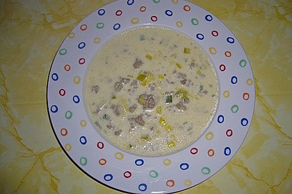 Käse - Lauch - Suppe 1