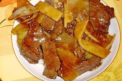 Rindfleisch mit Zwiebeln 13