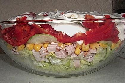 Eisberg Schichtsalat mit Putenbrust 3